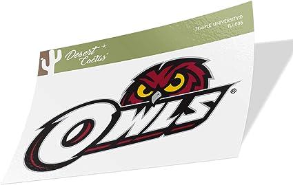 Temple University Owls NCAA Vinyl Decal Laptop Water Bottle Car Scrapbook Sticker - 001