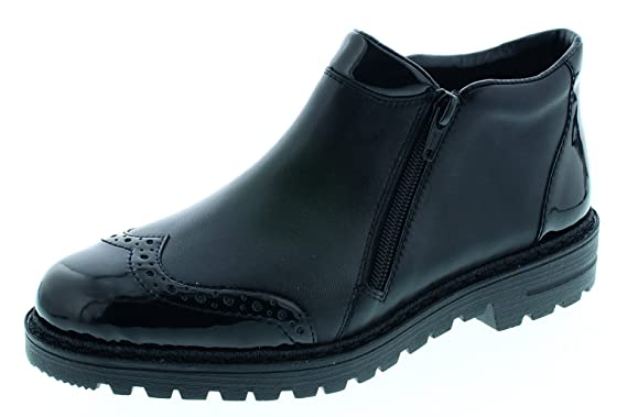 c392da3dd1887 Rieker bottines femme 55359-01 noir: Amazon.fr: Chaussures et Sacs
