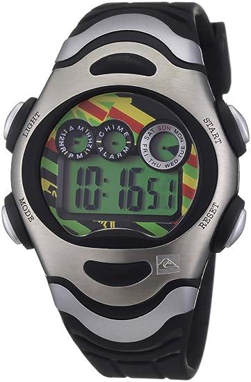 Quiksilver Y012DR 2TRST - Reloj digital infantil de cuarzo con correa de plástico negra (alarma