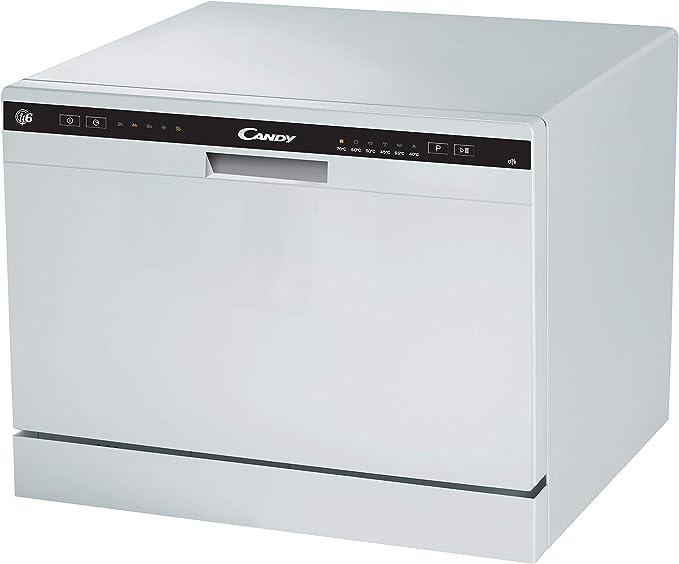 Candy CDCP 6 - Lavavajillas pequeño, Altura 43,8 cm, 6 servicios, 6 Programas