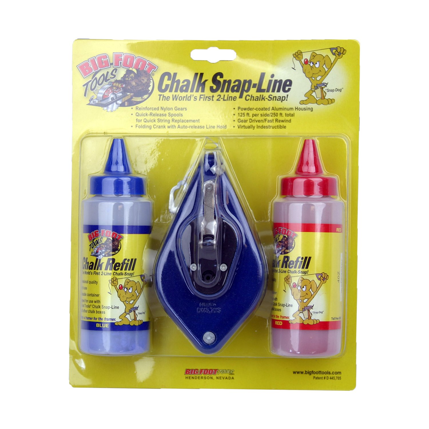 Big Foot LA-DCBWC Dual Line Chalk Box with Chalk