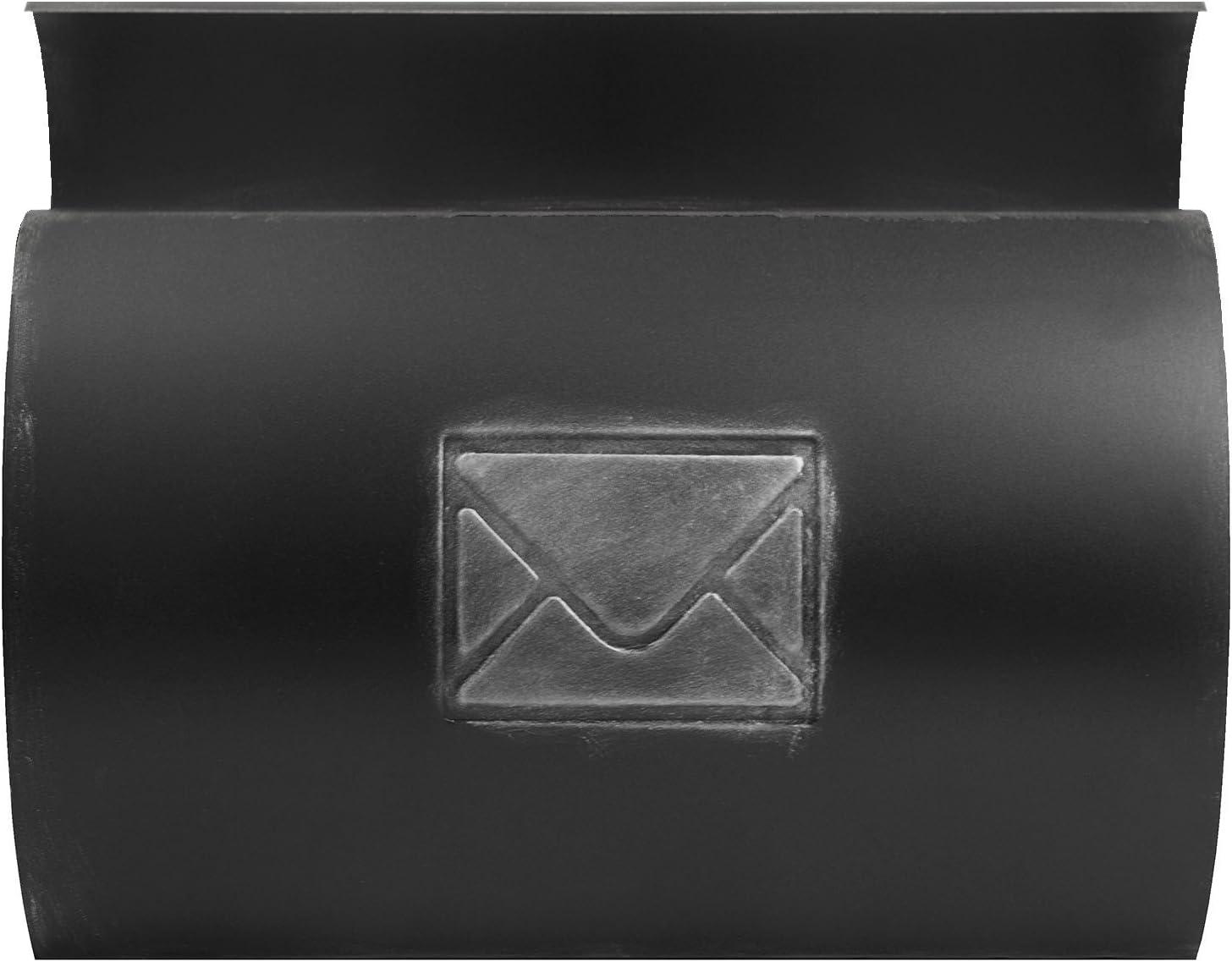 Wand Briefkasten Wandbriefkasten Postkasten Mailbox mit Zeitungsrolle Zeitungsfach Zeitungsbox//Silber