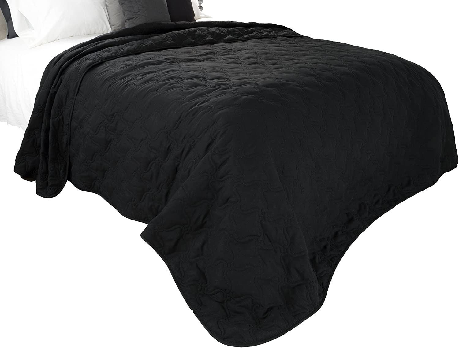 Solid Color Quilt by Lavish Home King - Black