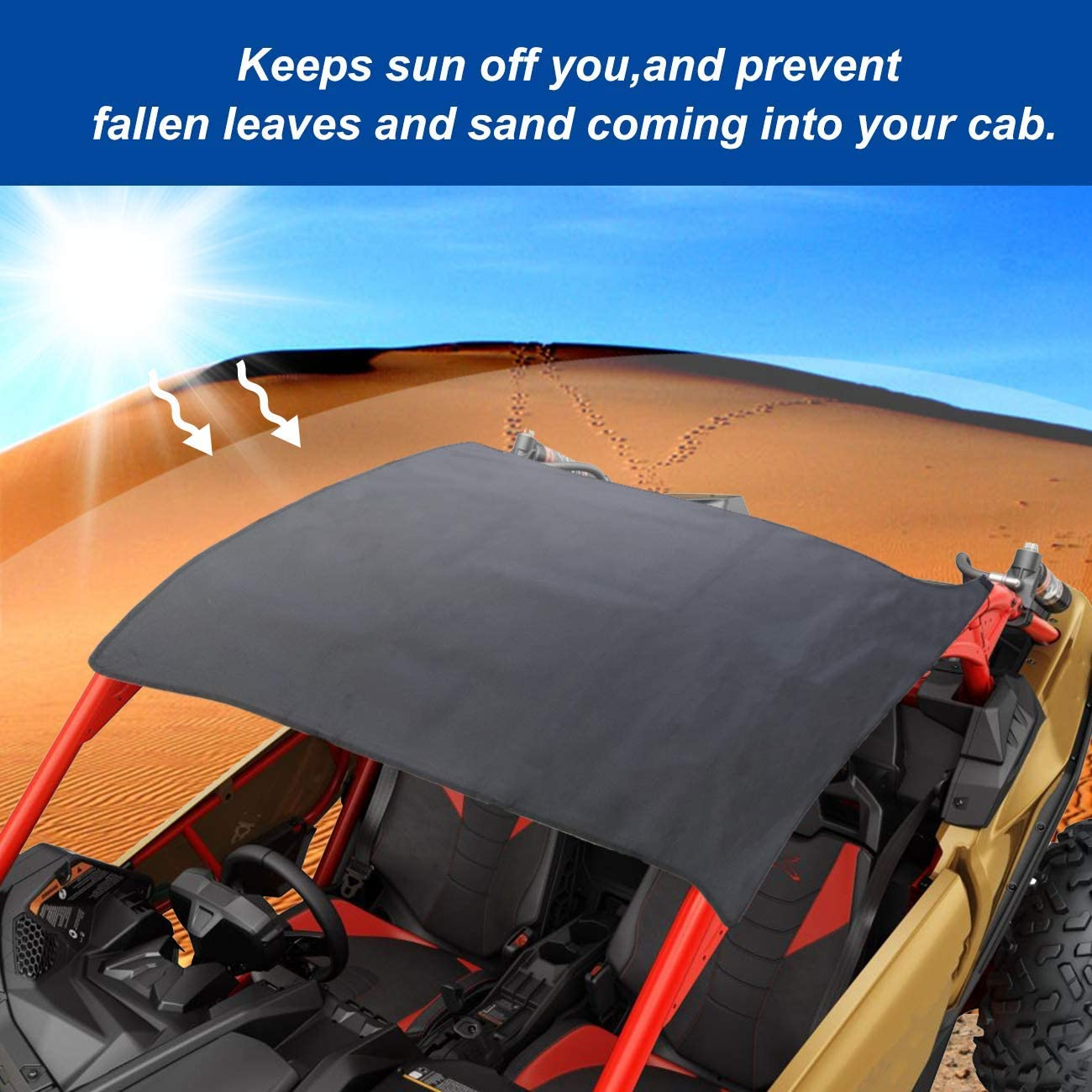 2 Doors MFC Soft Top Canvas top Roof Fit for Can-Am Maverick X3 2017-2020