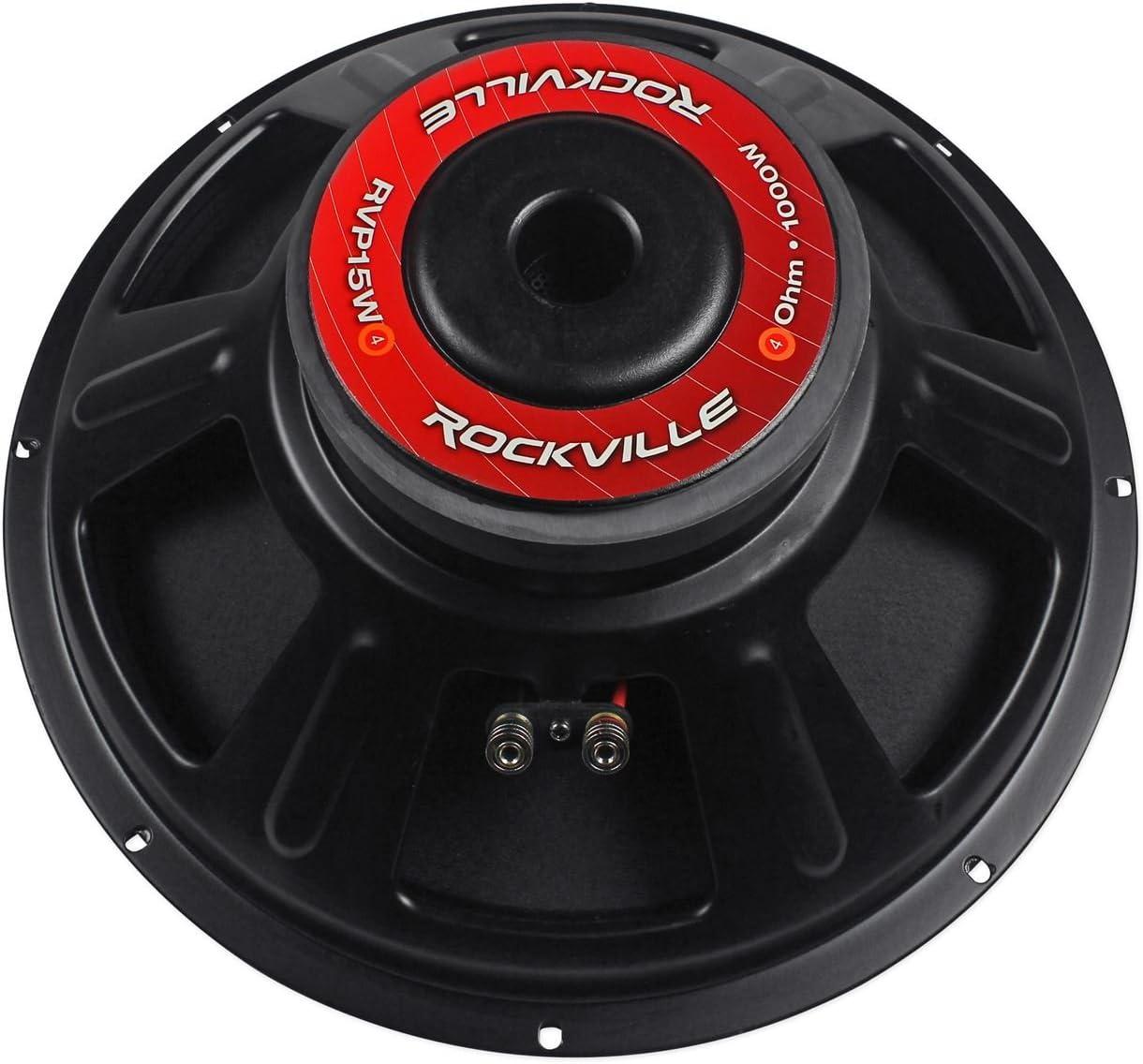 2 New Rockville RVP15W4 2000 Watt 15 Pro Subwoofers 4 Ohm Raw Sub Woofers