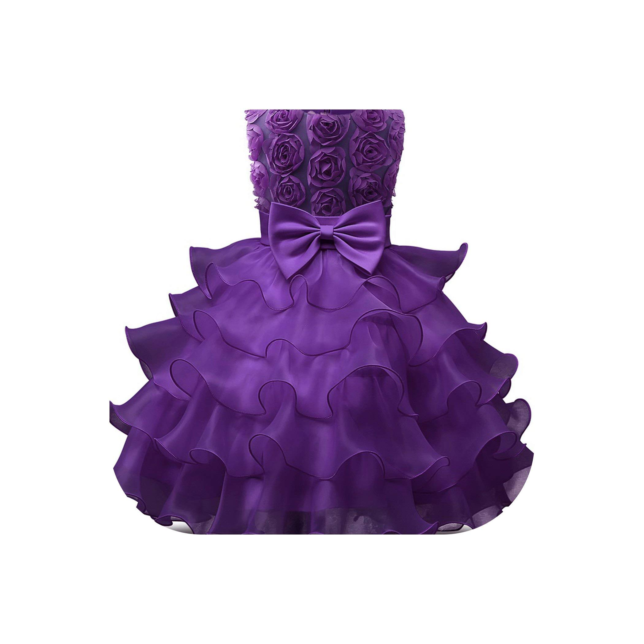 Kids Party Wear Princess Costume for Girl Ball Gown Infant 1 2 Year Birthday Dresses,with,PC