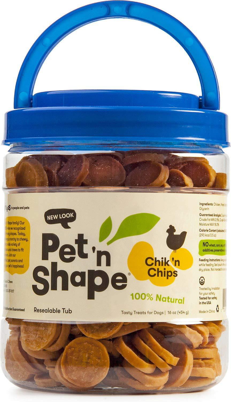 Pet 'n Shape Chicken Dog Treats, Chik 'n Chips, 16 Ounce, 12 Pack