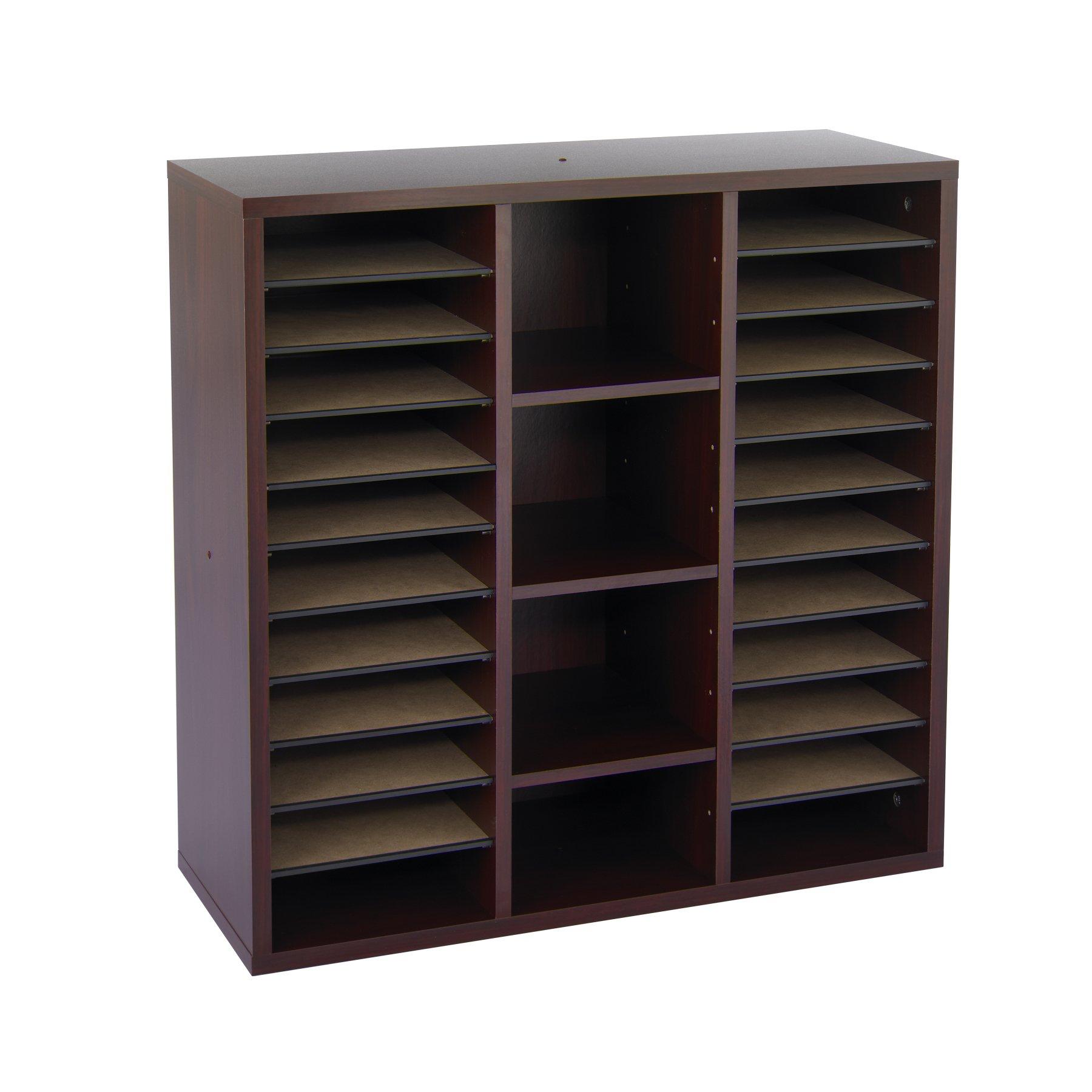 Safco Products 9441MH Apres Modular Storage Literature Organizer, Mahogany