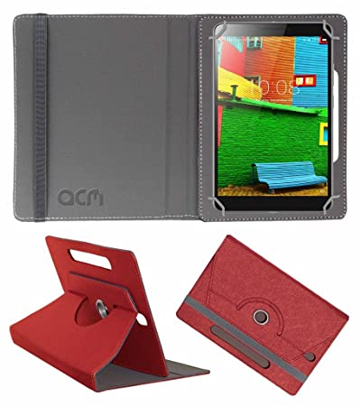 Acm Designer Rotating Leather Flip Case Compatible with Lenovo Phab 6.98 Tablet Cover Stand Peach Bags,Cases   Sleeves