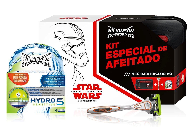 Wilkinson Sword Hydro 5 Star Wars - Kit Especial de Afeitado con Máquina Hydro 5 + 4 Recambios de Cuchillas + Neceser Exclusivo de la película Edgewell Hydro 5 Sensitive