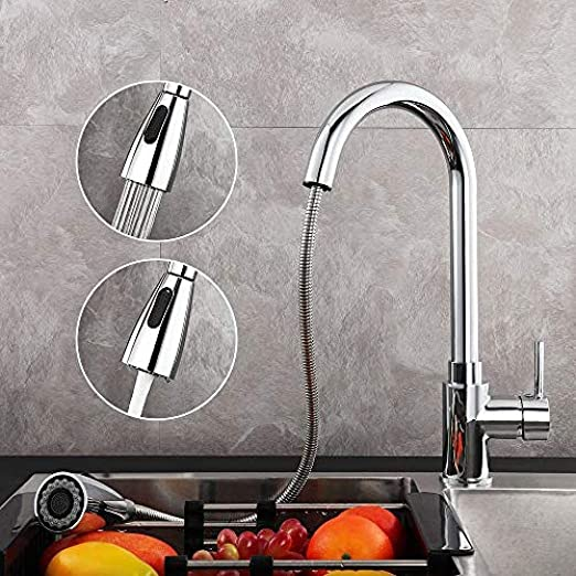 XXX Tarin Kitchen Faucet with Pull-out Dual Rinse 360 ° Rotatable ...