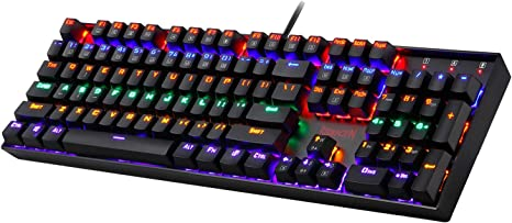 Amazon.com: Redragon K551 Mechanical Gaming Keyboard RGB LED Rainbow Backlit Wired Keyboard with Red Switches for Windows Gaming PC (104 Keys, Black): Computers & Accessories