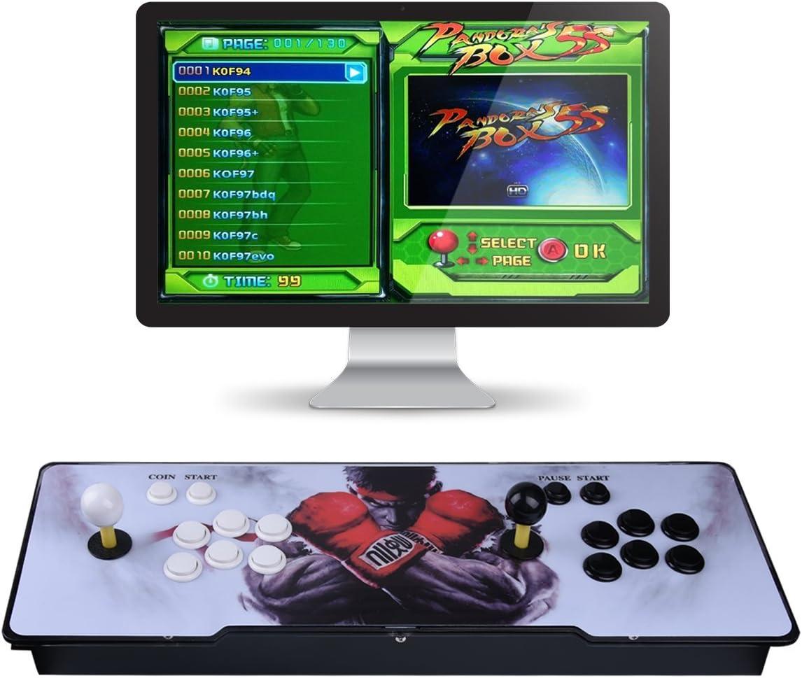 Video Machine Classic, 2 Giocatori Pandora's Box 6S Multiplayer Home Arcade Console 1388 Giochi Tutto in 1 Non-Jamma PCB Doppio Stick Nuovo Design... Colore:Pandora's Box 6s