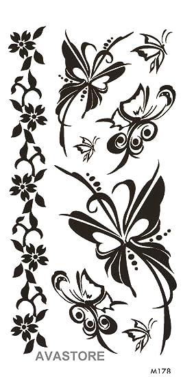 Tatuajes temporales mariposa - Tatuaje efímero mariposa: Amazon.es ...
