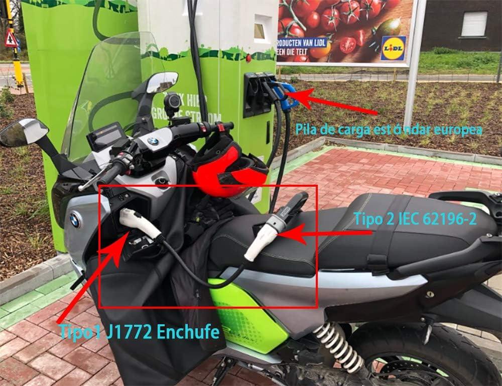 KHONS EV Ladekabel f/ür Elektrofahrzeug 32A//16A Typ 2 auf Typ 1 f/ür Ein Amerikanisches Elektrofahrzeug das An Eine Europ/äische EV-Ladestation Angeschlossen ist 0,2 m, 7.2kW