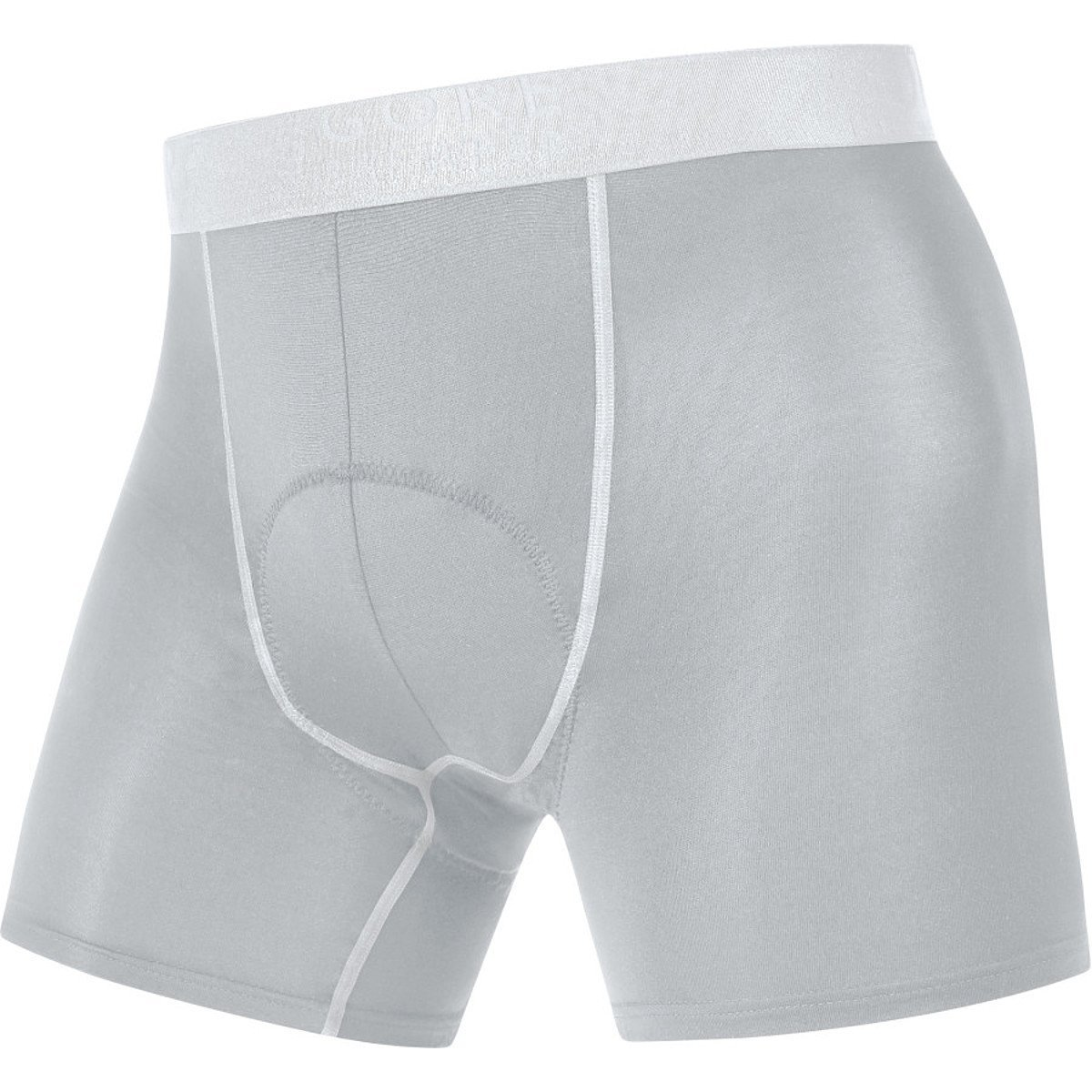 Gore Bike WEAR Men's Base Layer Boxer Shorts+, XXL, Titan/White by GORE WEAR