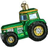 Old World Christmas Tractor Glass Blown Ornament