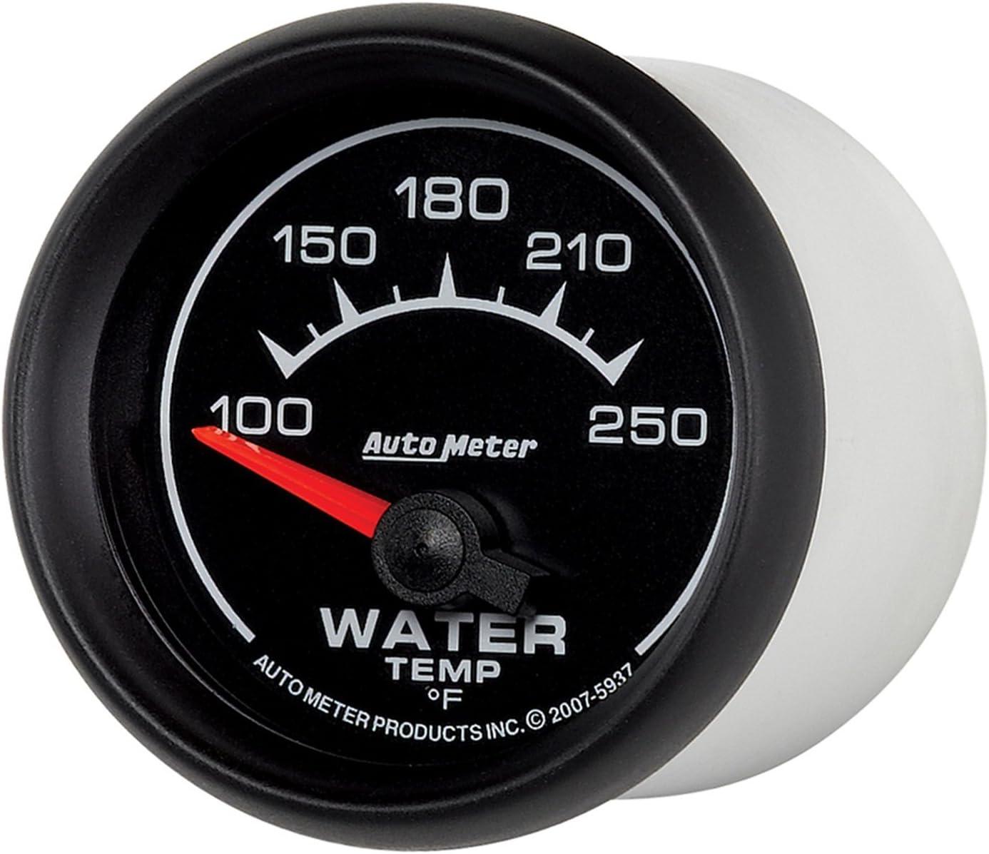 Auto Meter 7537 Phantom II 2-1//16 100-250 F Short Sweep Electric Water Temperature Gauge