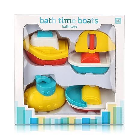 Juguetes de baño, Botes Flotantes,Set de Regalo para bebé, Juguete para baño