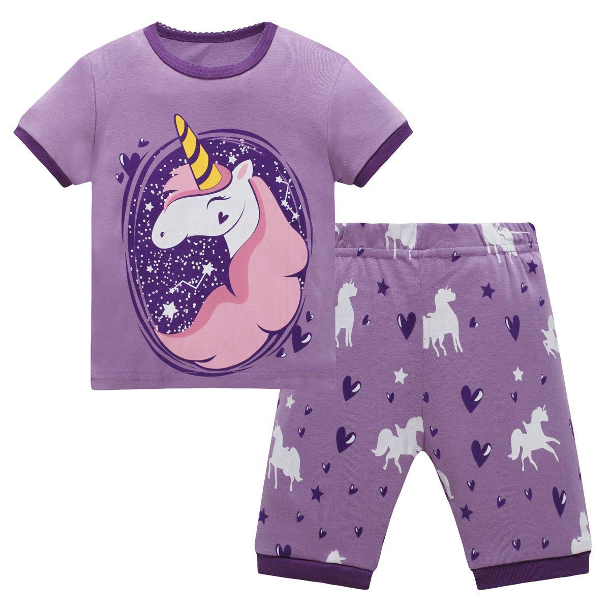 Schmoopy Girls Unicorn Pajamas 2-8 Years