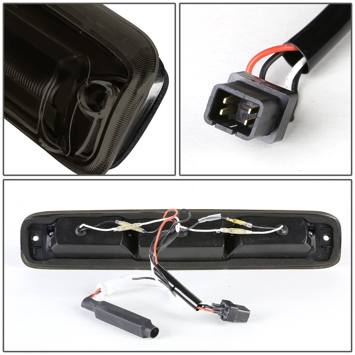 DNA motoring 3BL-GMC99-LED-BK-SM LED Third Brake Light