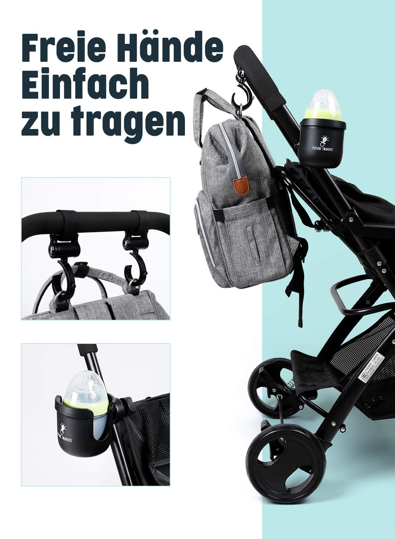 Getr/änkehalter f/ür Buggy und Kinderwagen Becherhalter Babyflasche halter Universal-Getr/änkehalter geeignet f/ür Baby Buggy Getr/änk und Kaffee Getr/änkehalter mit 2 Haken
