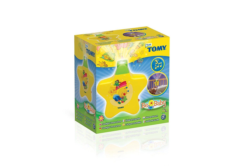 L/ámpara nocturna con proyector para ni/ños Tomy  40962 L/ámpara Estrellita color amarillo