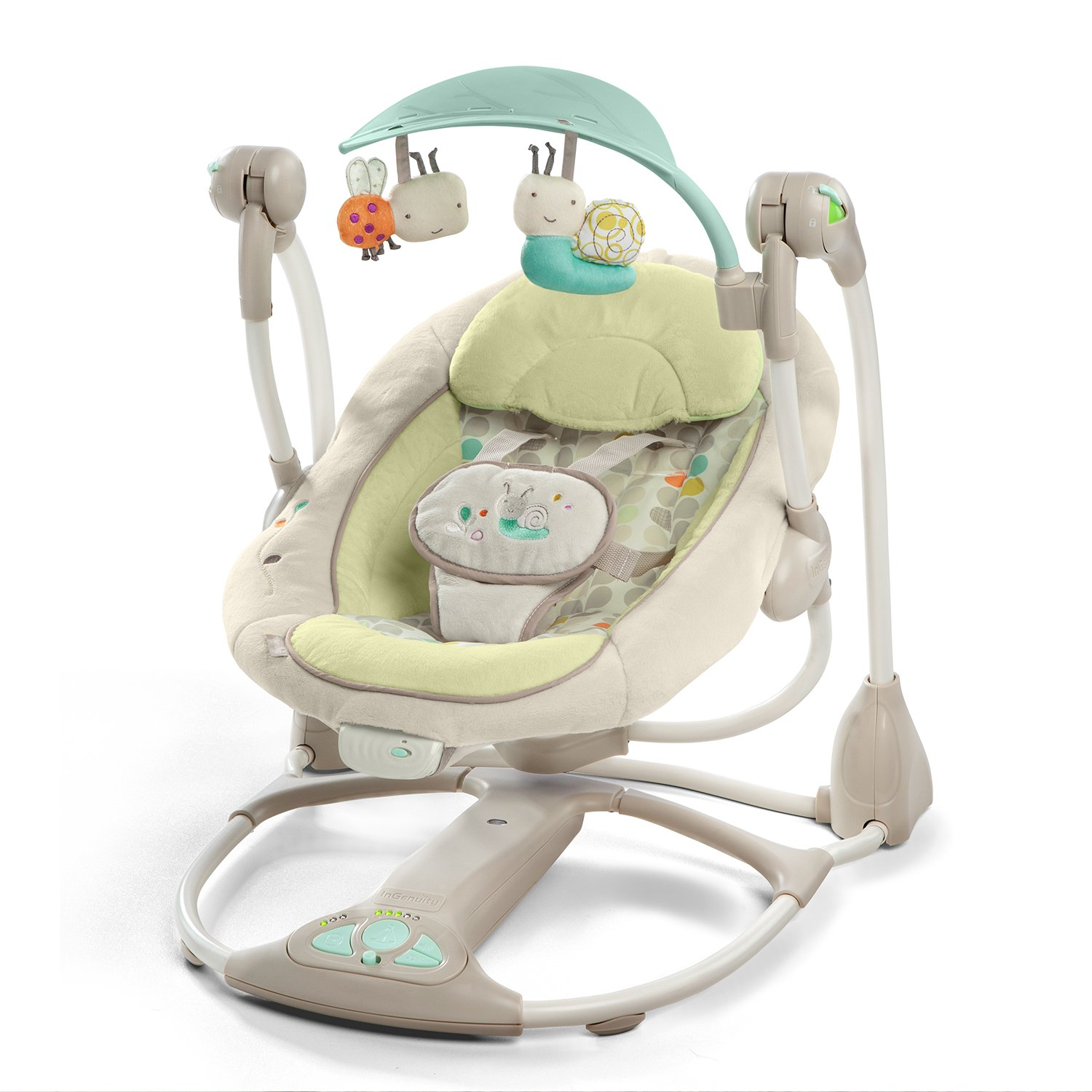 SWINGING BOUNCER BRIGHT START Ingenuity Rocker Swing Vibrating Melodies LADYBIRS Bright Starts 60198