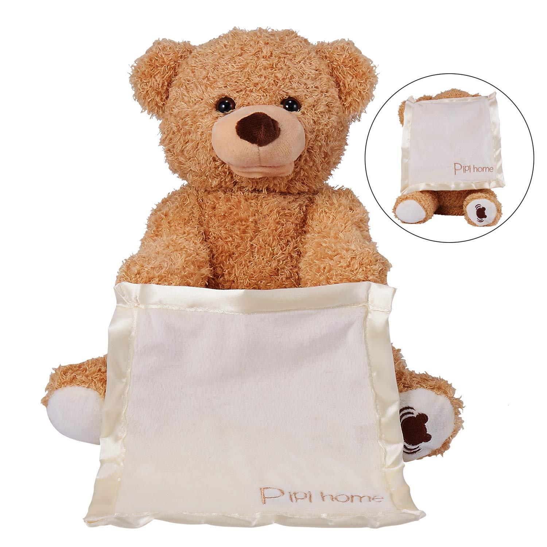 a479b3951 30cm Peek a Boo Bear lay Hide and Seek Cartoon Plush Toy Cute Music Bear  Doll Best Christmas Gift  Amazon.co.uk  Toys   Games