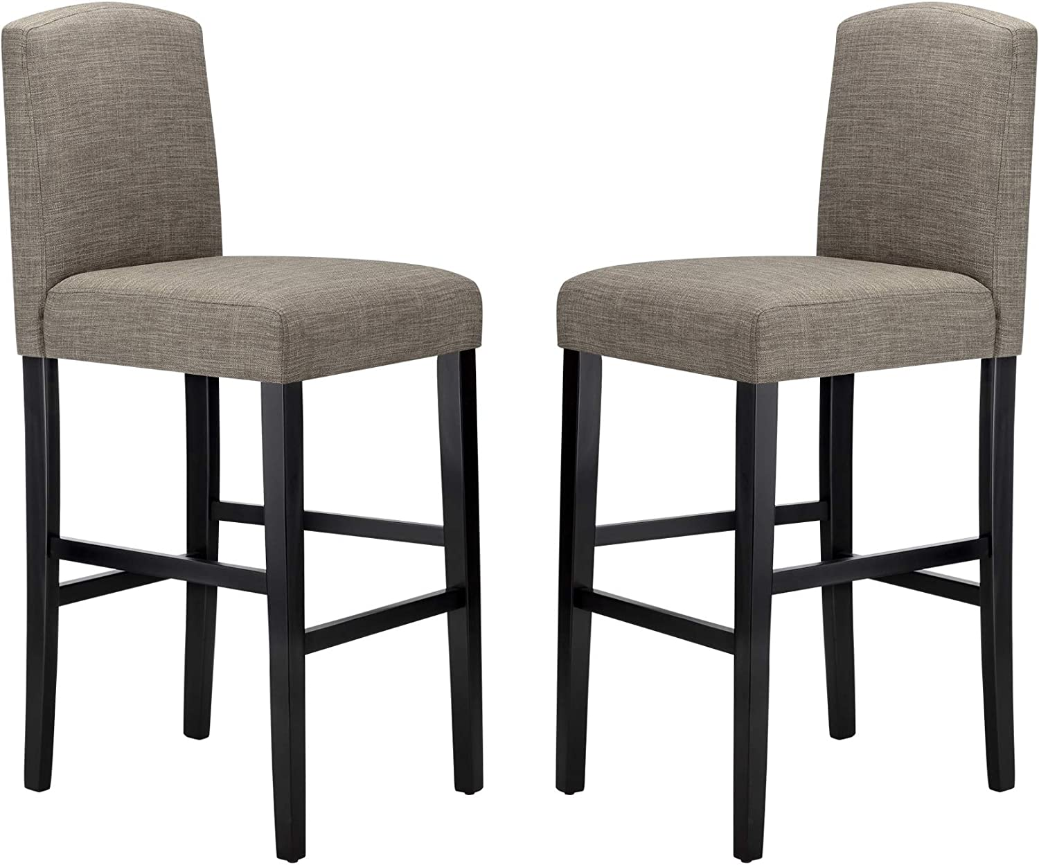 Amazon Brand – Ravenna Home Modern Bar Stool with Back, 44 Inch Height, Grey, Set of 2
