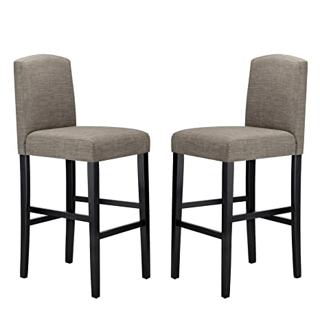 Pleasant Ravenna Home Modern Bar Stool With Back 44 Inch Height Grey Set Of 2 Creativecarmelina Interior Chair Design Creativecarmelinacom