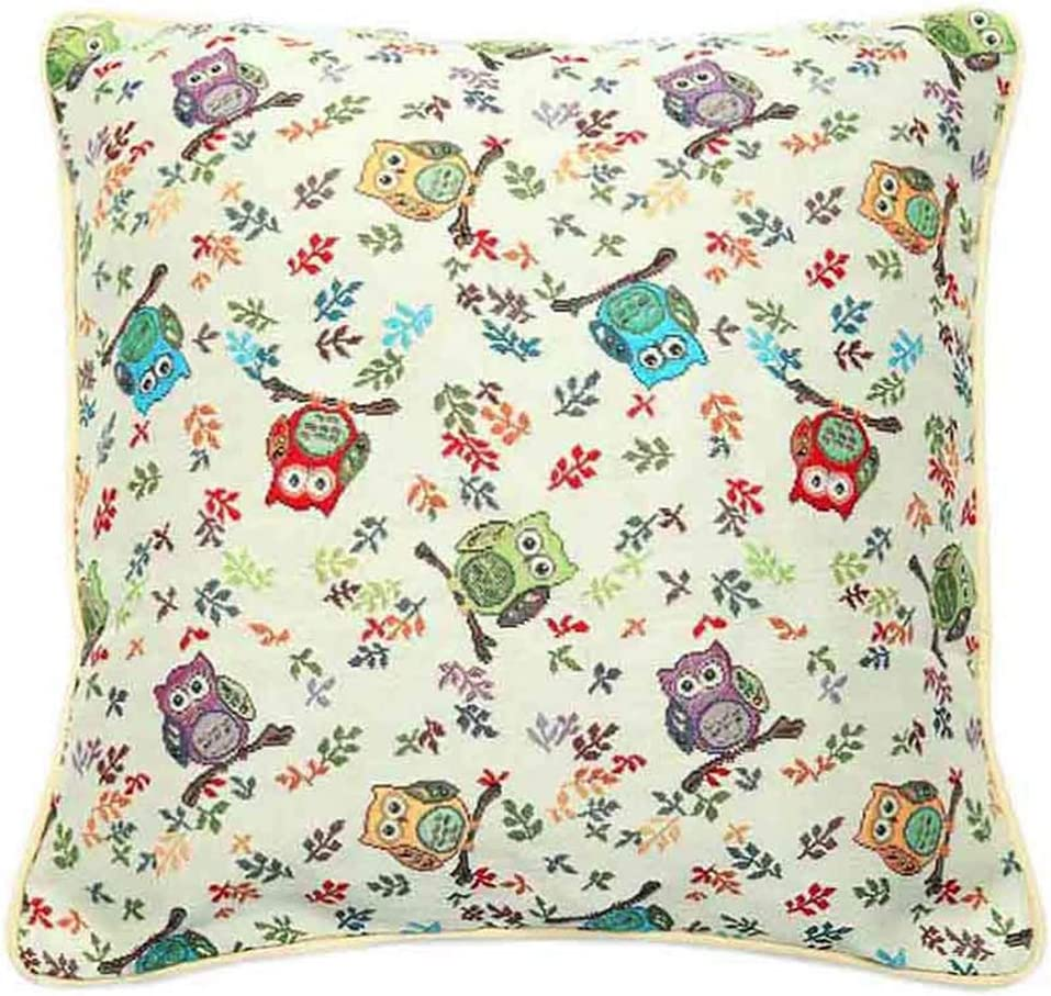 Amazon Com Owl Pillows Decorative Throw Pillow For Couch Double Sided Square Owl Cushion Cover 18 X 18 45cm X 45cm Woven Tapestry No Padding By Siganre Home Kitchen