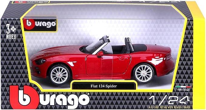 BBURAGO 1:24 FIAT 124 SPIDER DIE-CAST RED 21083