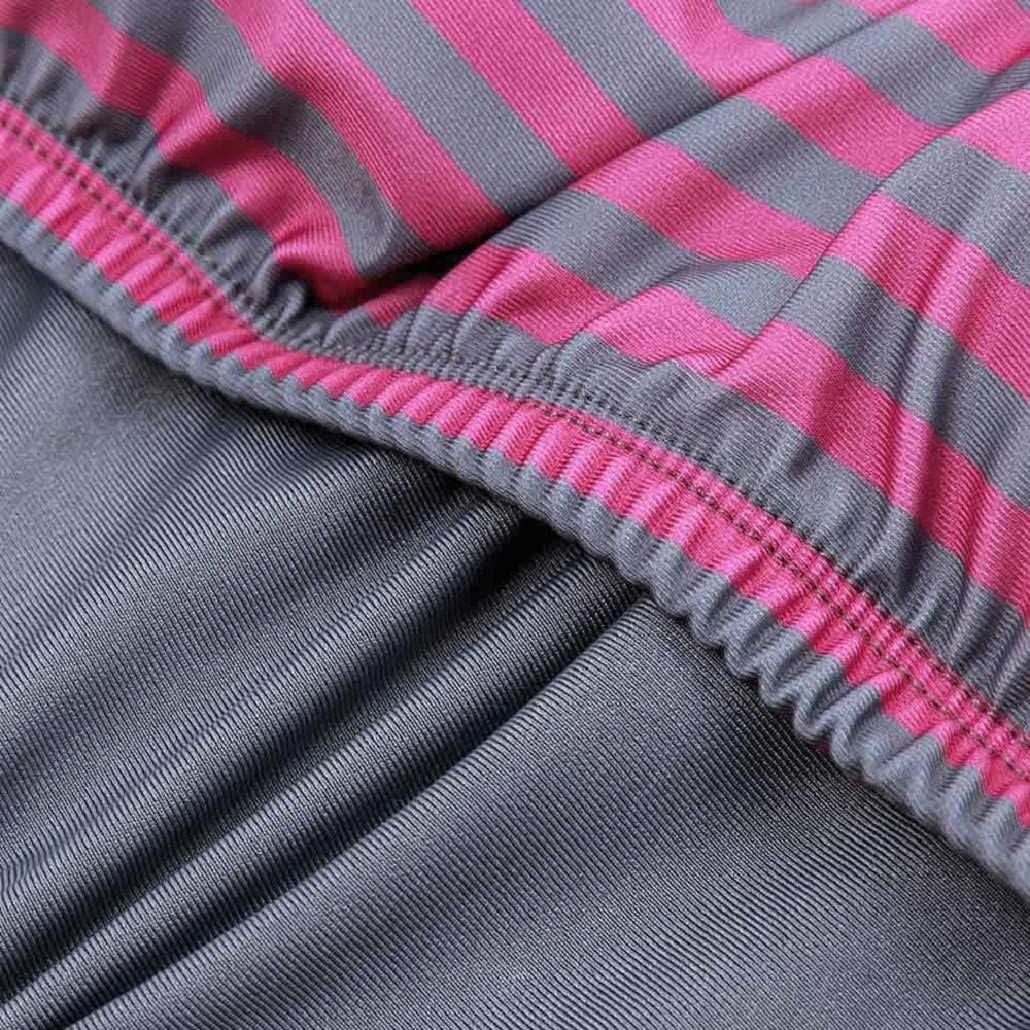 heekpek Costumi da Bagno Estate Tankini Donna Bikini Due Pezzi Plus Size Swimwear Righe delle Donne Allineate Raddoppiano Le Serie di Costumi da Bagno Tankini