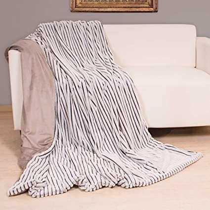 Stern-Wohn-Decke Kuscheldecke Wolldecke Wohndecke Decke 150x200cm Grau