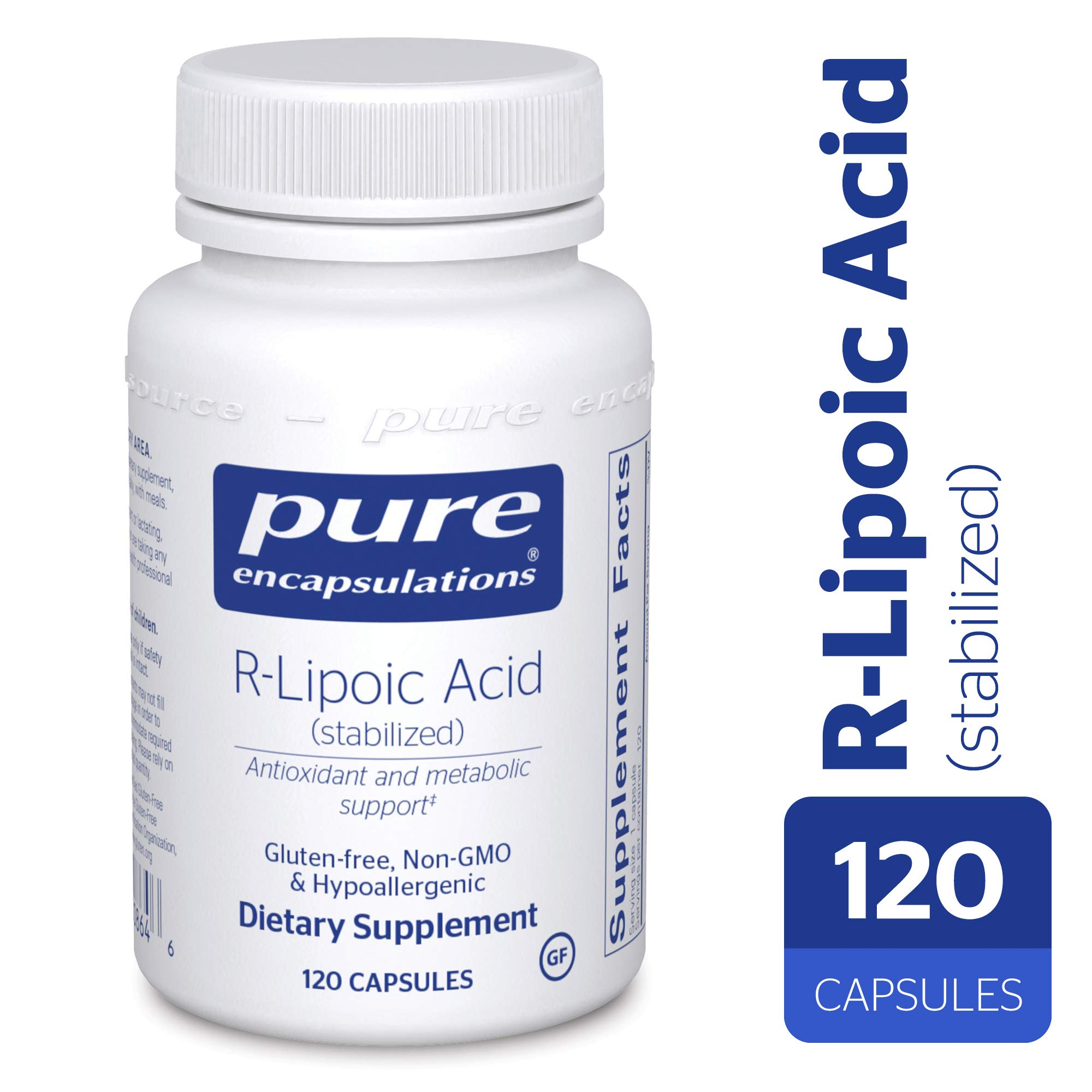 Pure Encapsulations - R-Lipoic Acid (Stabilized) - Hypoallergenic Supplement with Enhanced Antioxidant Protection and Metabolic Support* - 120 Capsules