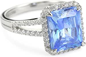 "Myia Passiello ""Timeless"" Swarovski Zirconia Fancy Blue Ring"