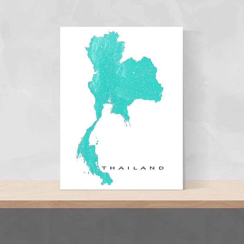PHUKET Map Print Thailand Wall Art Poster City Map Wall Decor A3 A2 A1