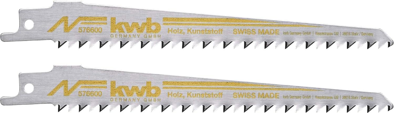 """2 Stück   Säbelsäge blätter,Mehrzweckschaft 1//2/"""" KWB 5766 Holz mittel kurve 152"""