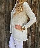 WANGSAURA Women Long Sleeve Loose Knitted Pullover Sweater Hooded Knitwear Outwear Tops