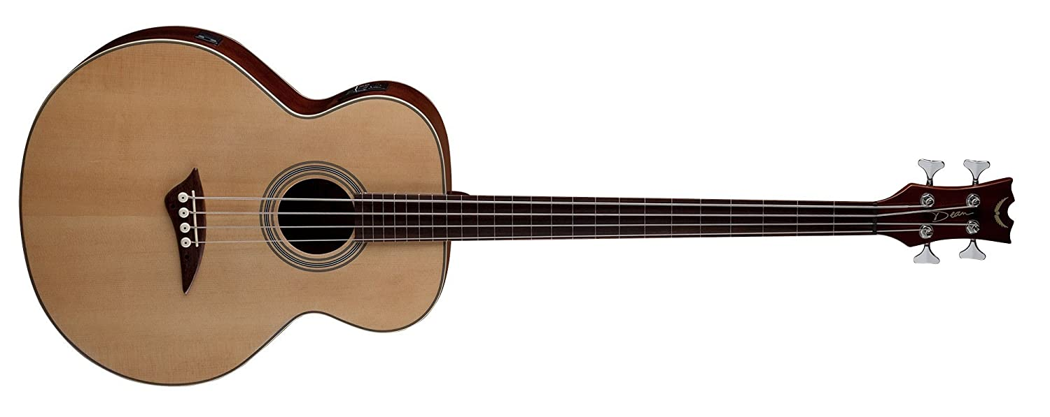 Dean EAB FL Acoustic-Electric Bass Fretless Guitar with Satin Finish, Right Handed Dean Guitars