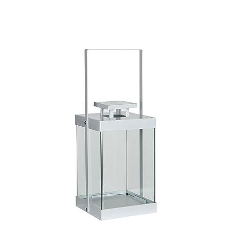 Mica Decorations Lantern Iron White 15 5 X 15 5 X 40 5 Cm Amazon