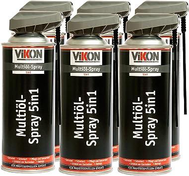 6 Dosen Vikon Multiöl 5in1 Spray 400 Ml Mit Spezial Sprühkopf Schmiermittel Rostlöser Kontaktspray Korrosionsschutz Reiniger In Einem Produkt Baumarkt