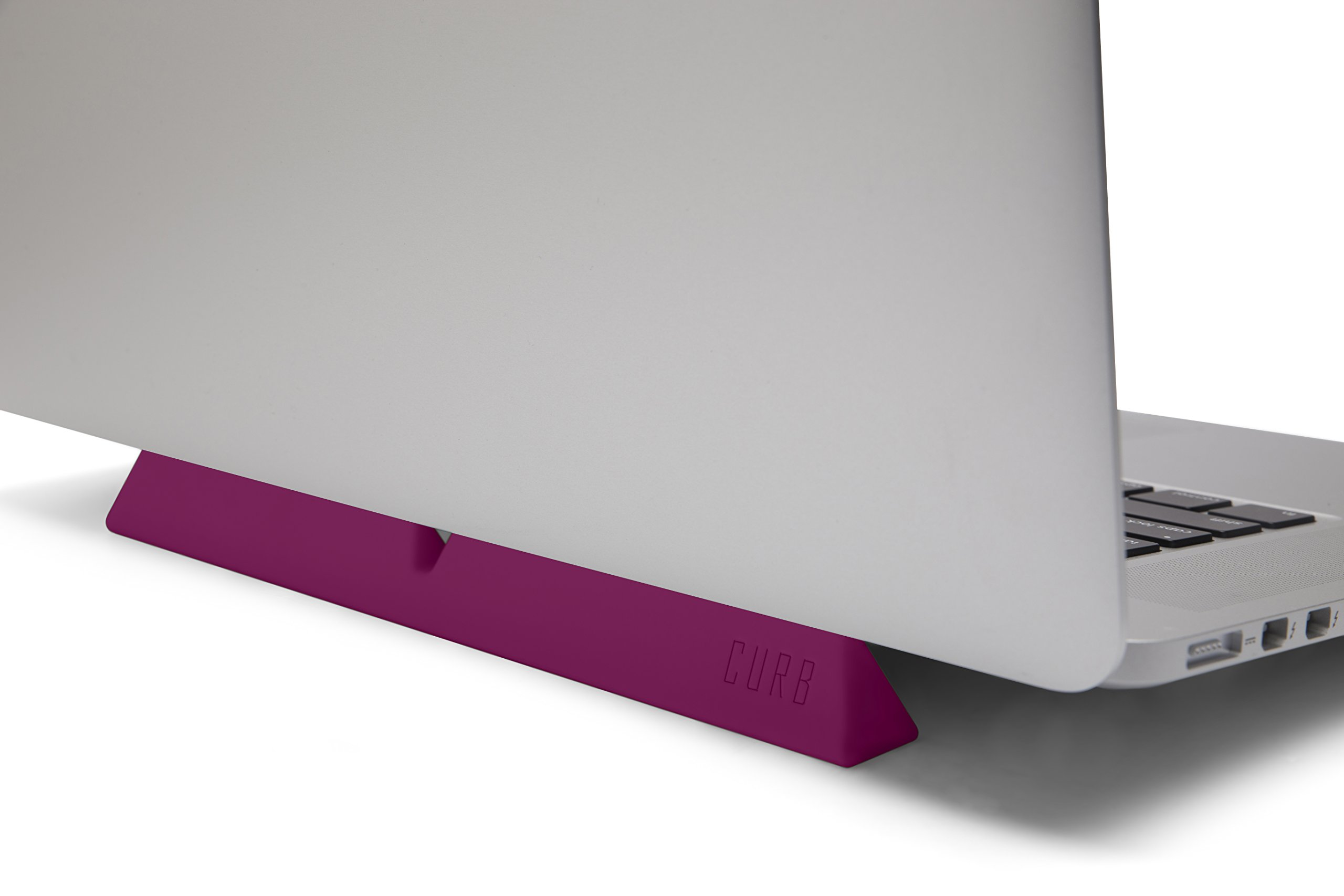designed by many, CURB Universal & Portable Ergonomic Laptop Stand, Lightweight Dual Viewing Position, Pink by designed by many (Image #4)
