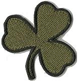 """Die Cut Irish Clover Tactical Patch 2""""x2"""""""