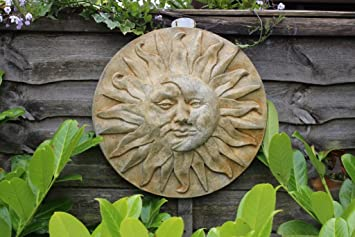 Sun and Moon, Stone wall Decor Ornament, Home and Garden Gift idea ...
