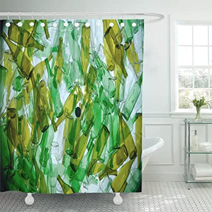 Amazon Emvency Shower Curtain Green Recycle Recycling Glass