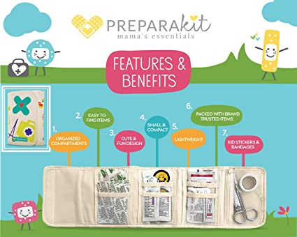 First Aid Kit by PreparaKit | Perfect Small Travel Bag