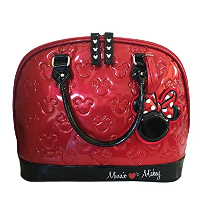 646146f35f9d Loungefly Mickey and Minnie Disney Embossed Bag Standard  Handbags   Amazon.com