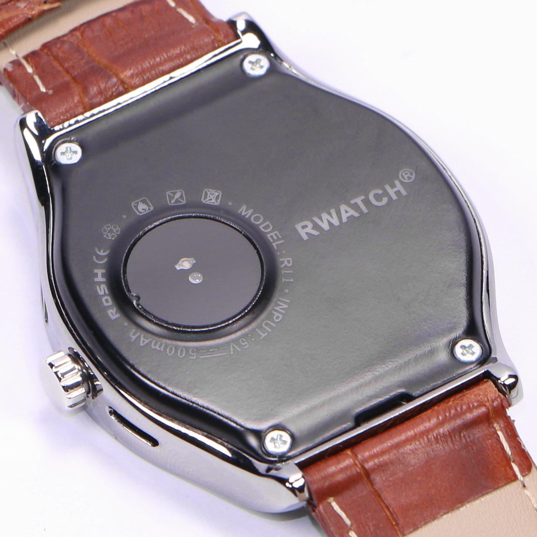HAMSWAN rwatch R11 ritmo cardíaco de control de bluetooth reloj inteligente para iPhone Android, pantalla táctil de 1,22 reslution 240 * 204, RAM 32 MB, ...